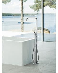 Vola FS1 Freestanding Bath Mixer with Handshower