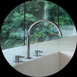 Vola Deck Mounted Kitchen Mixers